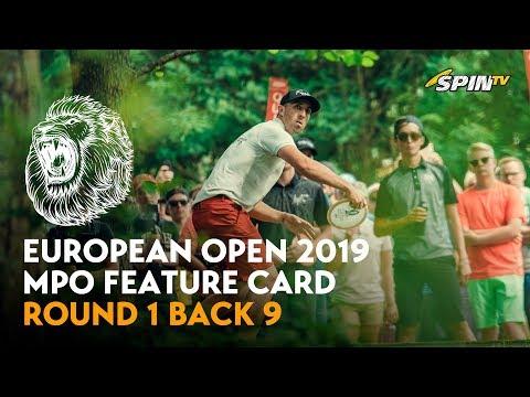 European Open 2019 MPO Feature Card Round 1 Back 9 (Jones, Lizotte, McMahon, McBeth)