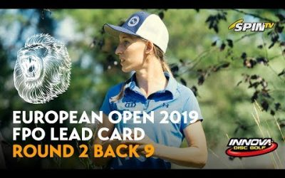 European Open 2019 FPO Lead Card Round 2 Back 9