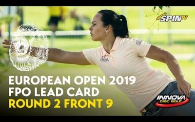 European Open 2019 FPO Lead Card Round 2 Front 9 (Pierce, Blomroos, Allen, Tattar)