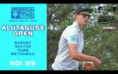 Innova Baltic Tour 2019, Alutaguse Open Round 1, Back 9 (Barsby, Sexton, Tamm, Metsamaa)