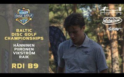 Innova Baltic Tour Championship 2019, Round1, Back 9 (Piironen, Vikström, Raik, Hänninen)